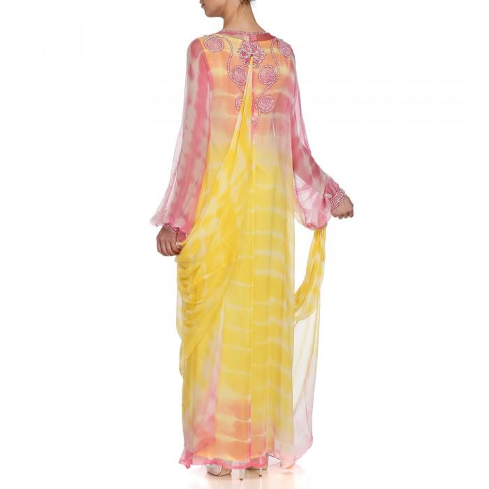 Batik-Kaftan mit Farbverlauf