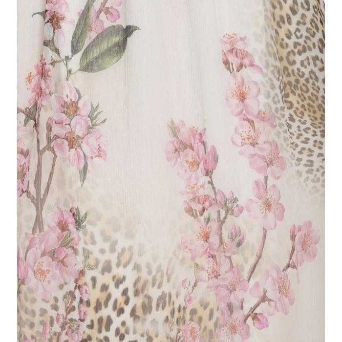Seidenkleid mit zartem Print in Pastell