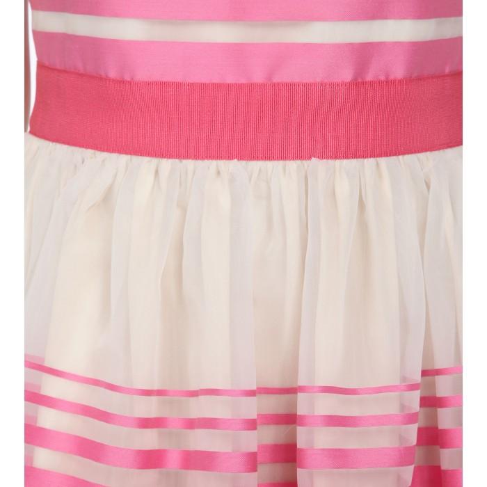 Weisses Minikleid mit pinken Streifen