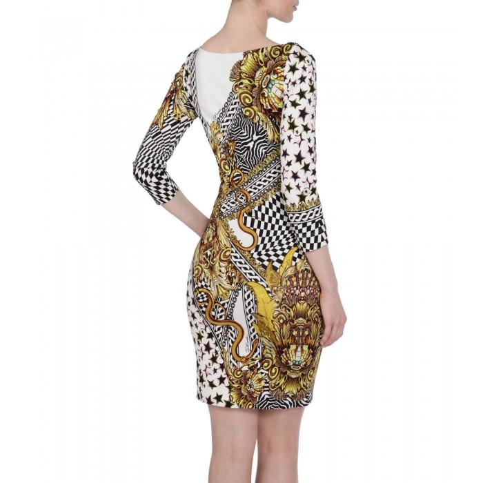 Jerseykleid mit Muster