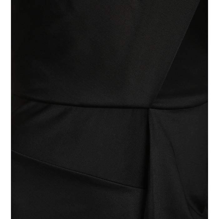 Schwarzes Cocktailkleid in Wickeloptik