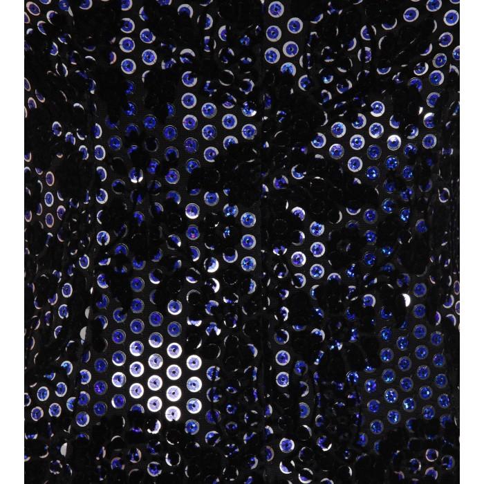 Gemustertes Cocktailkleid mit Pailletten in Blau