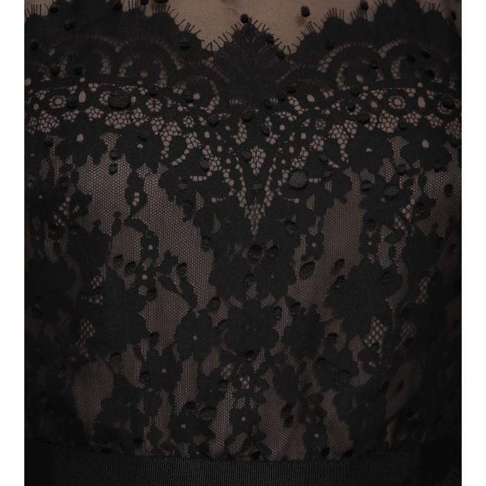 Edles Spitzen-Cocktailkleid in Schwarz