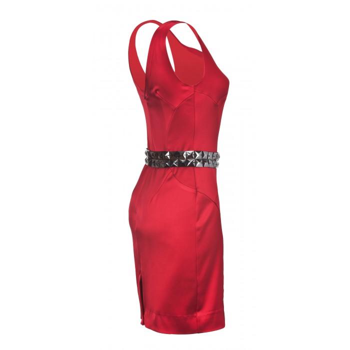 Cocktailkleid mit Rückenausschnitt in Rot