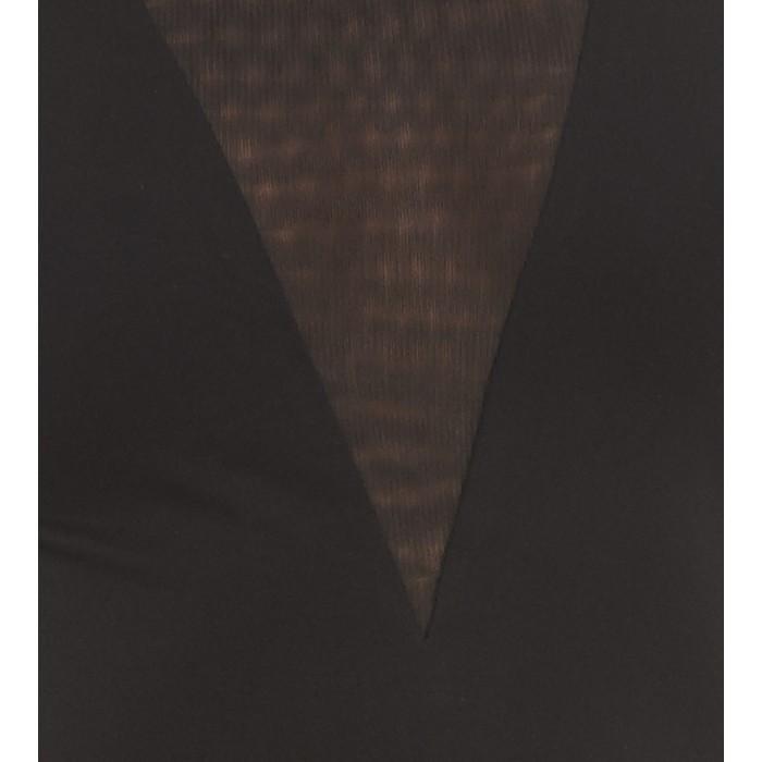 Schwarzes Cocktailkleid mit Mesh-Einsatz