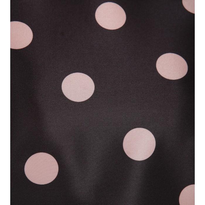 Kurzes Cocktailkleid mit rosa Punkten