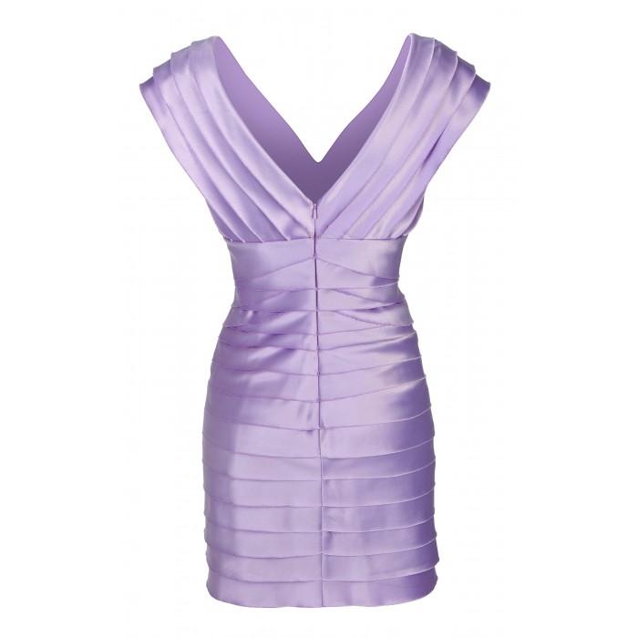 Minikleid in Kaskaden-Optik in Violett