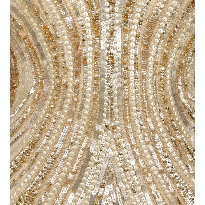 Maxikleid aus Pailletten mit Rückendekolleté in Gold