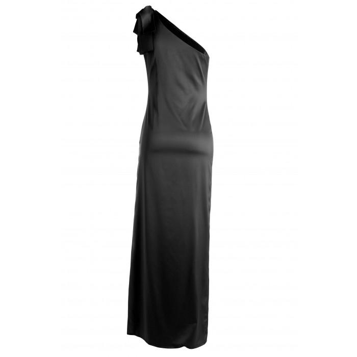Asymmetrisches Abendkleid in Schwarz