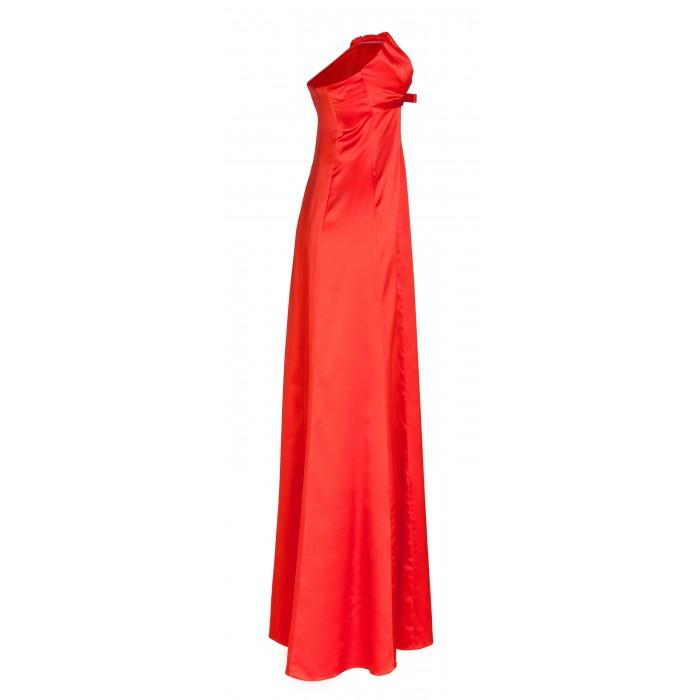 Bodenlanges Abendkleid mit gerafftem Bandeau