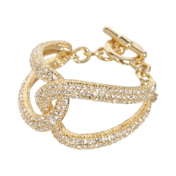 Armband mit Strasssteinen in Gold