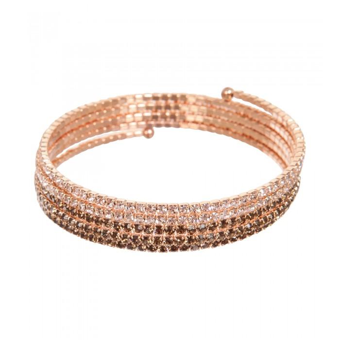 Spiralen-Armband mit Farbverlauf in Bronze