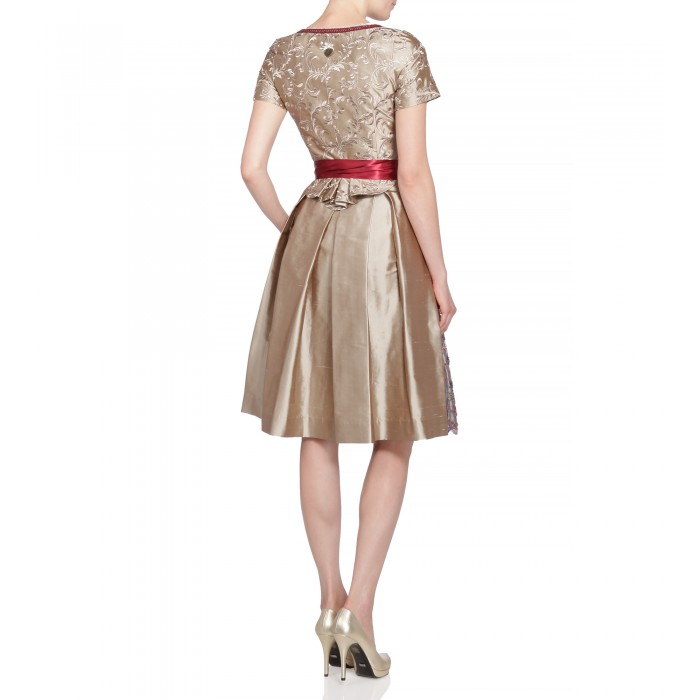 Dirndl Jana in Gold/Beige