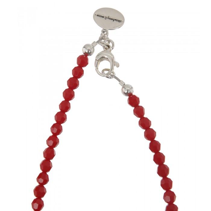 Dirndlkette mit rundem Hirschanhänger in Rot