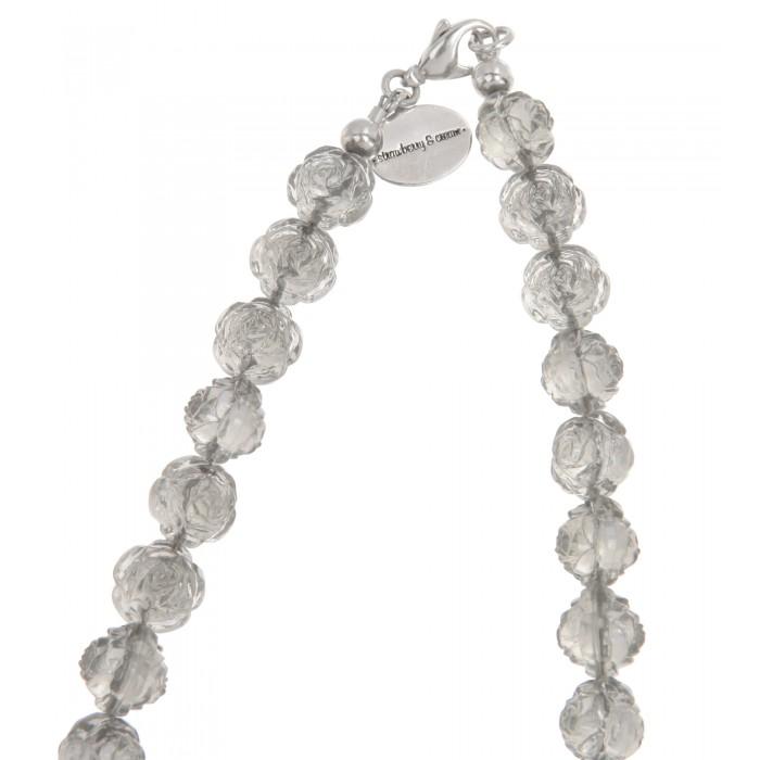 Dirndlkette mit rundem Hirschanhänger in Silber