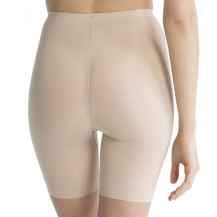 Trust Your Thinstincts Mid-Thigh Shorts in Nude