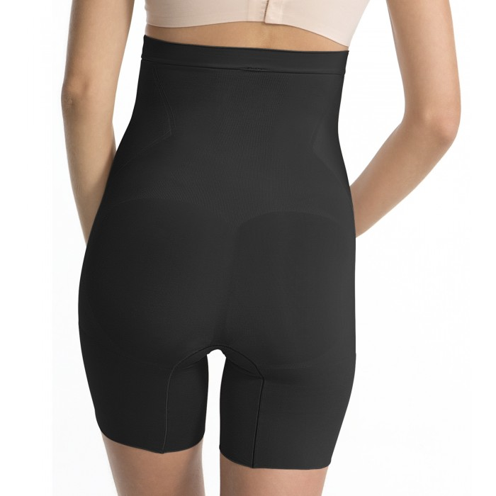 High-Waisted-Shorts OnCore Mid-Tigh in Schwarz