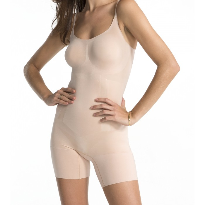 Oncore High-Waist Bodysuit in Nude