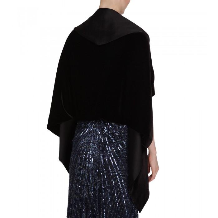 Schwarze Jacken-Stola aus Samt