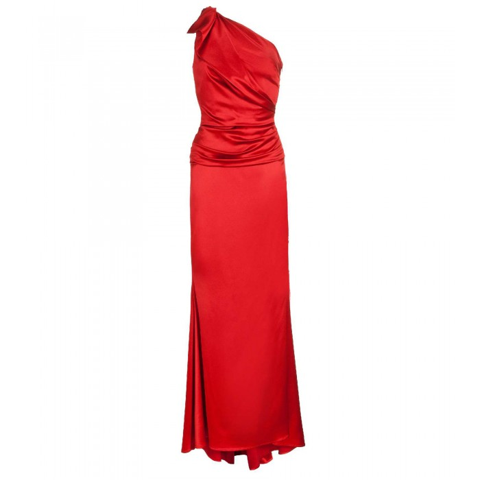 Asymmetrisches Kleid in Rot