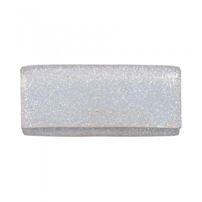 Glitzer-Clutch in Silber