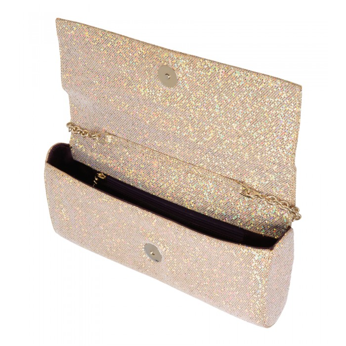 Glitzer-Clutch in Gold