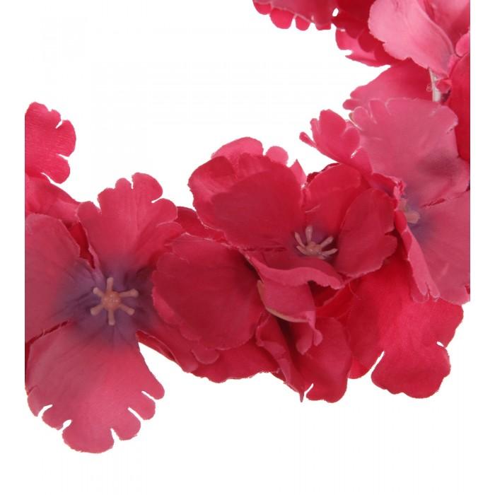 Haarkranz aus Hortensien-Seidenblumen