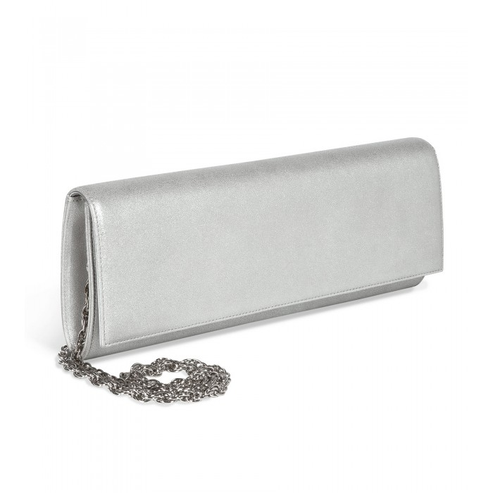 Clutch aus edlem Burma-Leder in Silber
