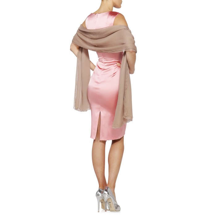 Stretch-Minikleid in Rosé