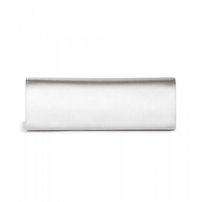 Clutch aus Raso Seide in Silber