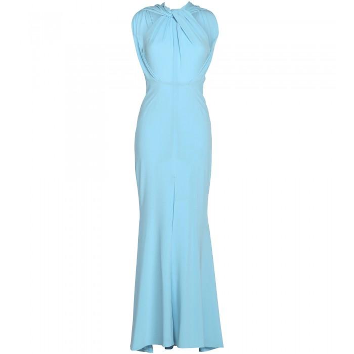 Stretch-Kleid in Hellblau