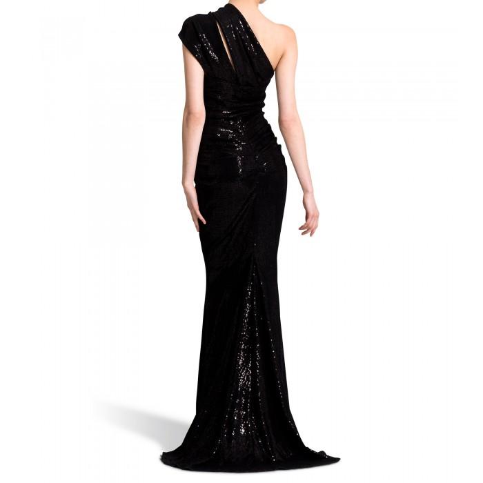 One Shoulder Kleid in Schwarz