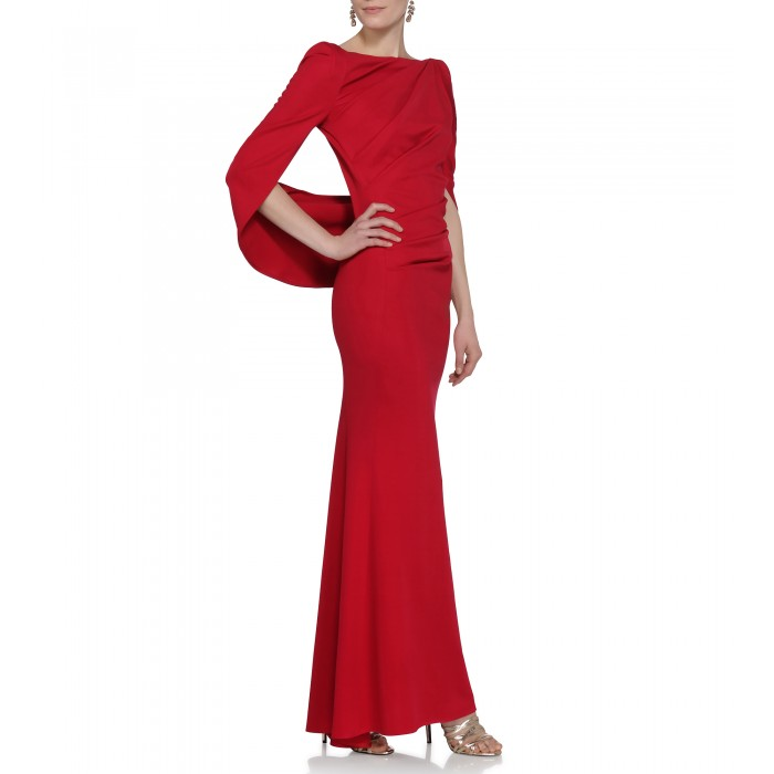 Abendkleid aus Jersey in Rot