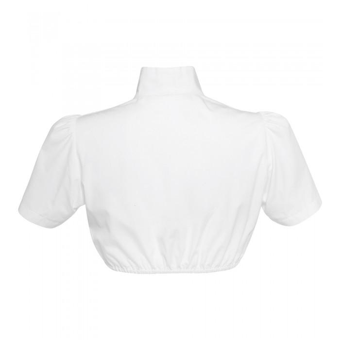 Bluse mit Stehkragen in Weiss
