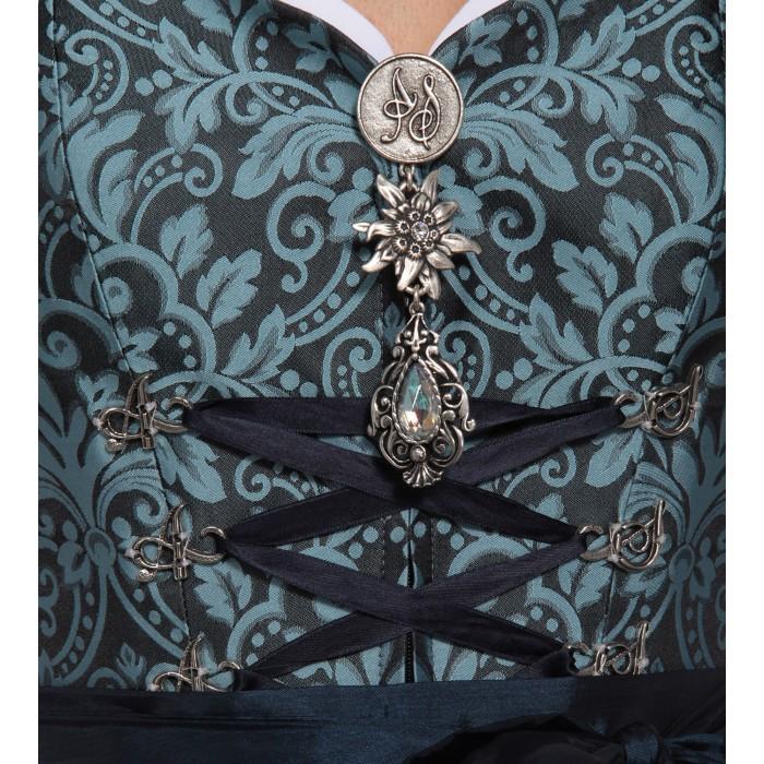 Dirndl in Hellblau mit Ornamenten