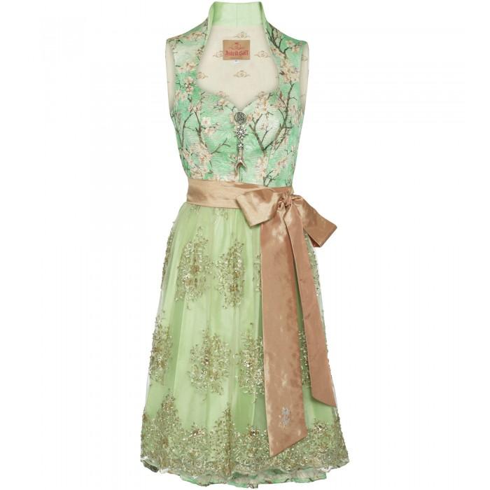 Dirndl in Grün mit Blumenprint
