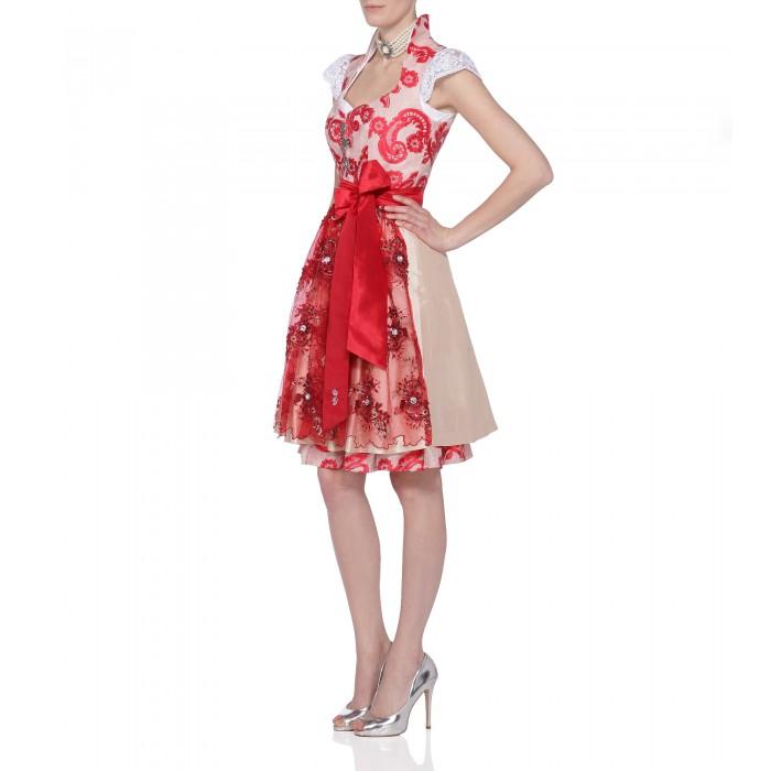 Dirndl in Rosa/Rot