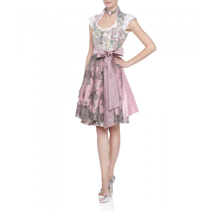 Dirndl mit Ornamentmuster in Pastell