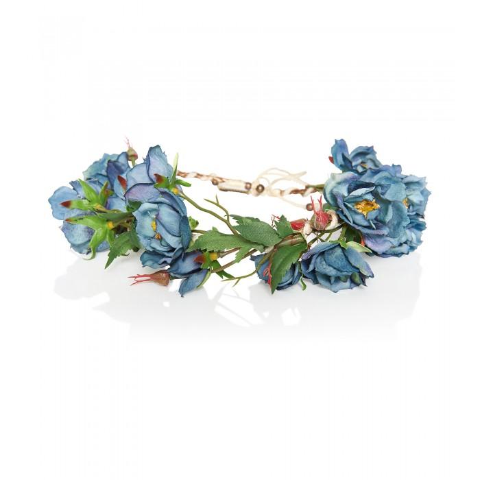 Haarband mit Blütensträngen aus Satin
