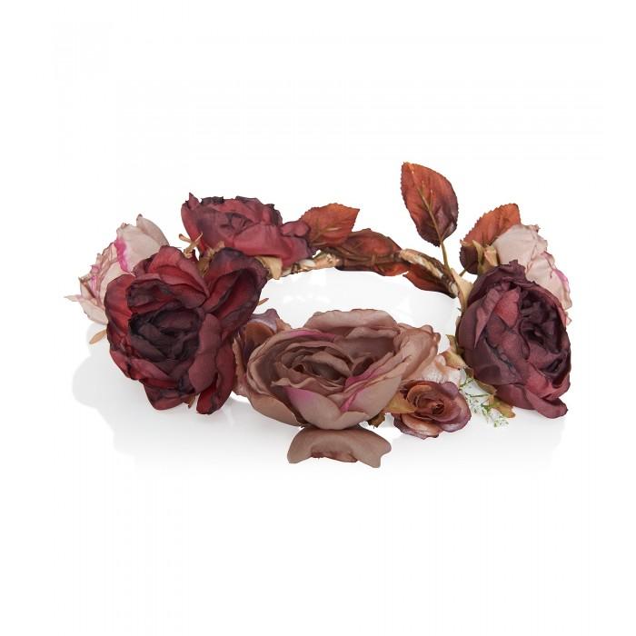Großes Blumen-Haarband mit Rosen aus Satin
