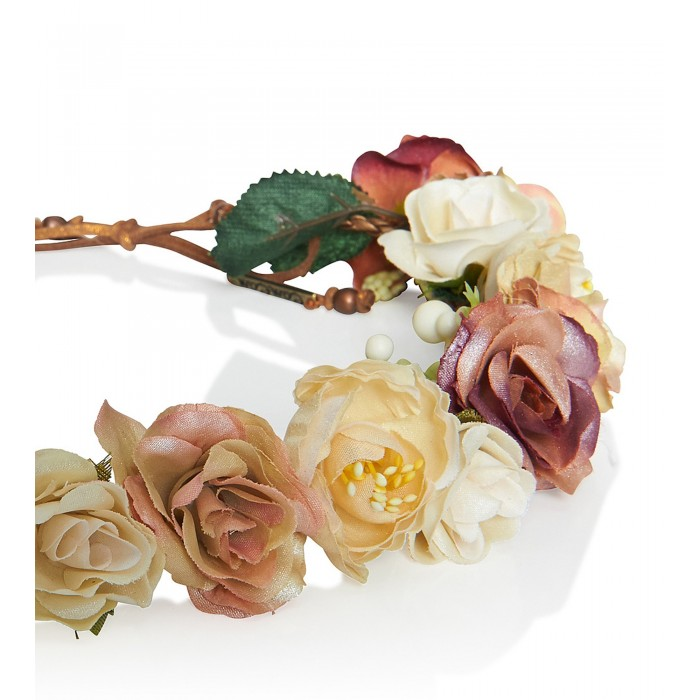 Blumen-Haarband aus bunten schimmernden Blüten