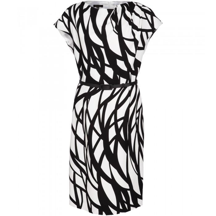 Gemustertes Kleid aus Viskosegemisch