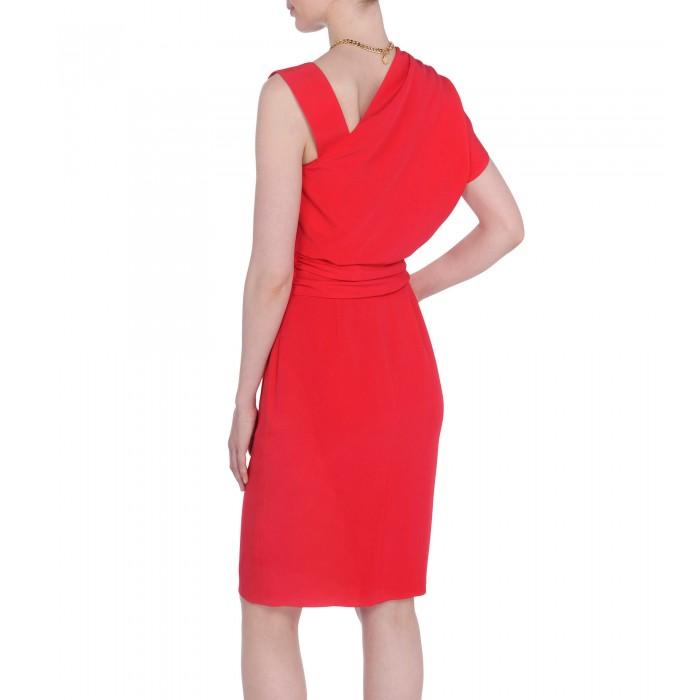 Rotes asymmetrisches Kleid aus Curpo