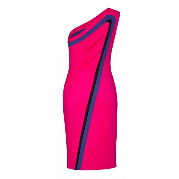 Etuikleid im Retro-Look aus Jersey in Pink