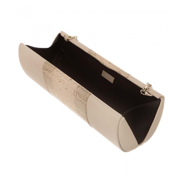 Box-Clutch aus Leder