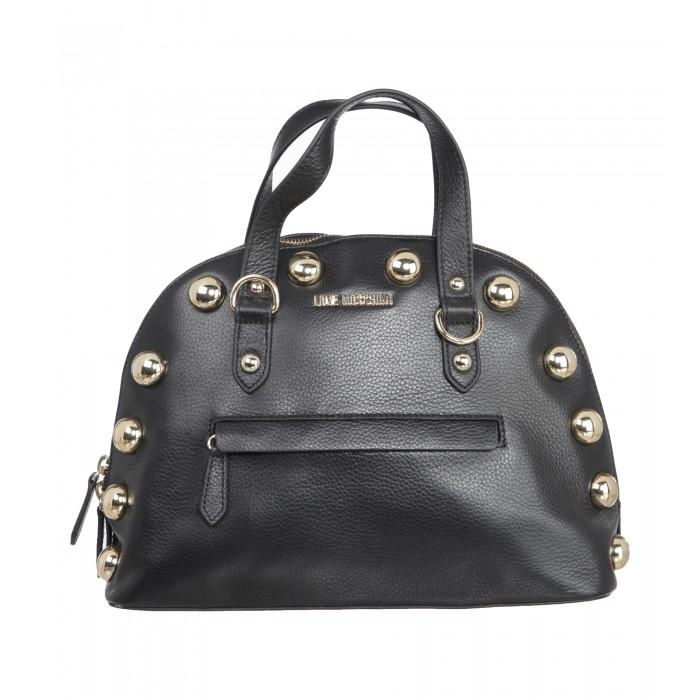 Halbrunde Handtasche mit Nieten
