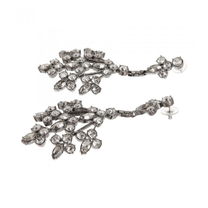 Ohrringe mit Swarovski-Kristallen in Silber