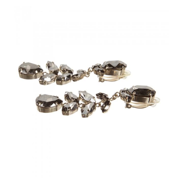 Clips in Tropfenform in Silber