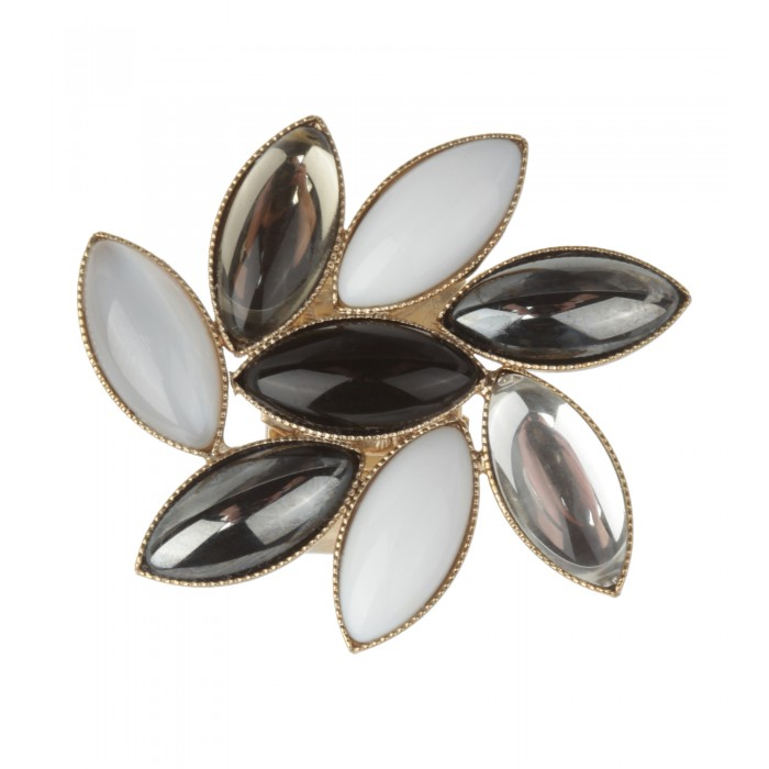 Goldener Ring mit ovalen Steinen
