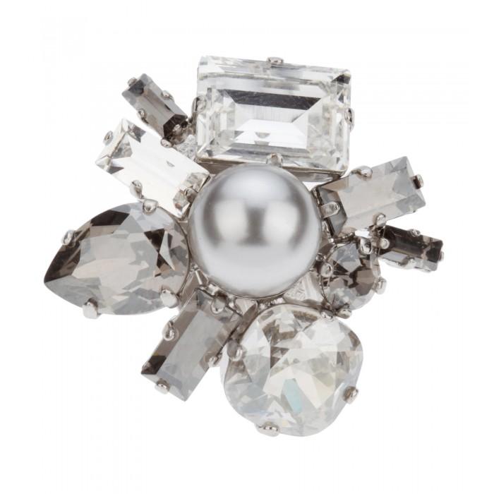 Edler Ring mit grauer Perle